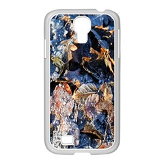 Frost Leaves Winter Park Morning Samsung Galaxy S4 I9500/ I9505 Case (white) by Nexatart