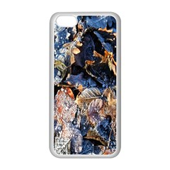 Frost Leaves Winter Park Morning Apple Iphone 5c Seamless Case (white) by Nexatart