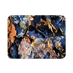 Frost Leaves Winter Park Morning Double Sided Flano Blanket (mini)  by Nexatart