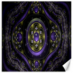 Fractal Sparkling Purple Abstract Canvas 12  X 12   by Nexatart