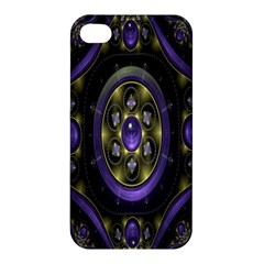 Fractal Sparkling Purple Abstract Apple Iphone 4/4s Hardshell Case