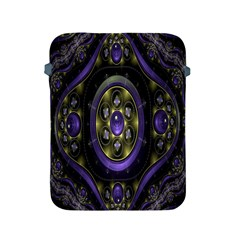 Fractal Sparkling Purple Abstract Apple Ipad 2/3/4 Protective Soft Cases by Nexatart