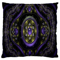 Fractal Sparkling Purple Abstract Large Flano Cushion Case (two Sides)