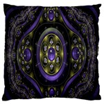 Fractal Sparkling Purple Abstract Large Flano Cushion Case (Two Sides) Back