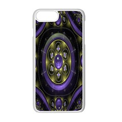 Fractal Sparkling Purple Abstract Apple Iphone 7 Plus White Seamless Case by Nexatart