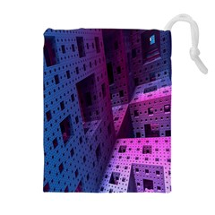 Fractals Geometry Graphic Drawstring Pouches (extra Large)