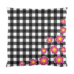 Floral Plaid Pattern Standard Cushion Case (one Side) by Valentinaart