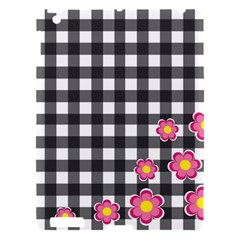 Floral Plaid Pattern Apple Ipad 3/4 Hardshell Case by Valentinaart