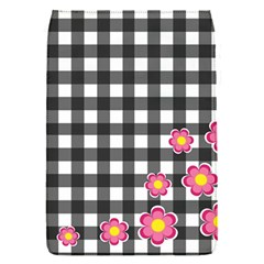 Floral Plaid Pattern Flap Covers (s)  by Valentinaart