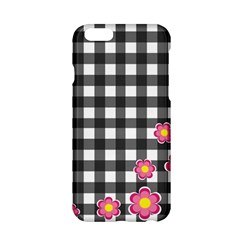 Floral Plaid Pattern Apple Iphone 6/6s Hardshell Case by Valentinaart