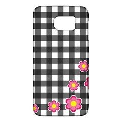Floral Plaid Pattern Galaxy S6 by Valentinaart