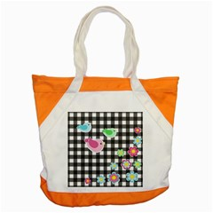 Cute Spring Pattern Accent Tote Bag by Valentinaart