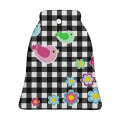 Cute Spring Pattern Bell Ornament (two Sides) by Valentinaart