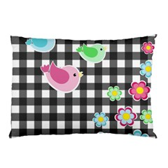 Cute Spring Pattern Pillow Case (two Sides) by Valentinaart