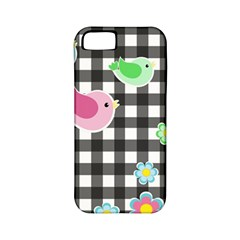 Cute Spring Pattern Apple Iphone 5 Classic Hardshell Case (pc+silicone)