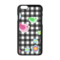 Cute Spring Pattern Apple Iphone 6/6s Black Enamel Case by Valentinaart