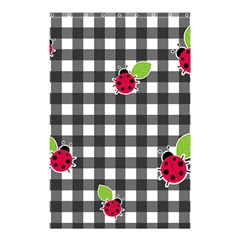 Ladybugs Plaid Pattern Shower Curtain 48  X 72  (small)  by Valentinaart