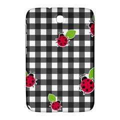 Ladybugs Plaid Pattern Samsung Galaxy Note 8 0 N5100 Hardshell Case  by Valentinaart