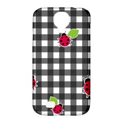 Ladybugs Plaid Pattern Samsung Galaxy S4 Classic Hardshell Case (pc+silicone) by Valentinaart