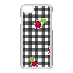 Ladybugs Plaid Pattern Apple Iphone 7 Seamless Case (white) by Valentinaart