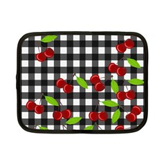 Cherries Plaid Pattern  Netbook Case (small)  by Valentinaart