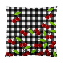 Cherries Plaid Pattern  Standard Cushion Case (two Sides) by Valentinaart