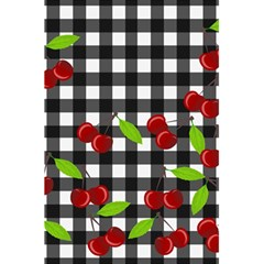 Cherries Plaid Pattern  5 5  X 8 5  Notebooks by Valentinaart