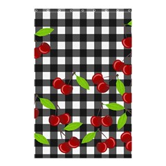Cherries Plaid Pattern  Shower Curtain 48  X 72  (small)  by Valentinaart