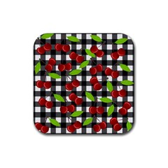 Cherry Kingdom  Rubber Square Coaster (4 Pack)  by Valentinaart