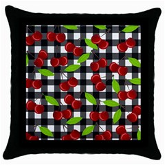 Cherry Kingdom  Throw Pillow Case (black) by Valentinaart