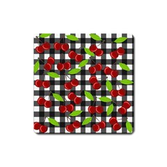 Cherry Kingdom  Square Magnet by Valentinaart