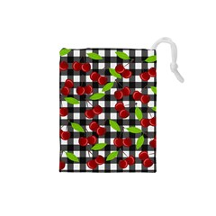 Cherry Kingdom  Drawstring Pouches (small)  by Valentinaart