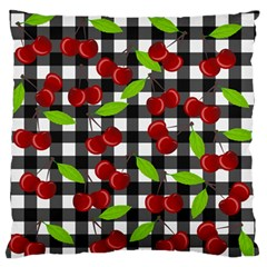 Cherry Kingdom  Large Flano Cushion Case (one Side) by Valentinaart