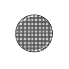 Gray Plaid Pattern Hat Clip Ball Marker by Valentinaart