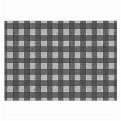 Gray Plaid Pattern Large Glasses Cloth (2 Side) by Valentinaart