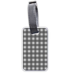 Gray Plaid Pattern Luggage Tags (one Side)  by Valentinaart