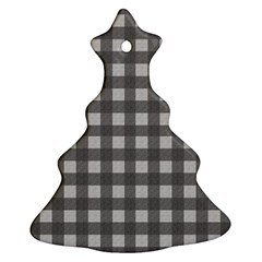 Gray Plaid Pattern Christmas Tree Ornament (two Sides) by Valentinaart