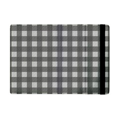 Gray Plaid Pattern Ipad Mini 2 Flip Cases by Valentinaart
