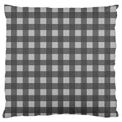 Gray Plaid Pattern Standard Flano Cushion Case (one Side) by Valentinaart