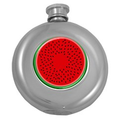 Watermelon Round Hip Flask (5 Oz) by Valentinaart