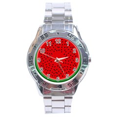 Watermelon Stainless Steel Analogue Watch by Valentinaart