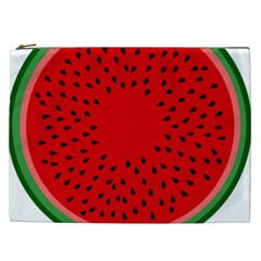 Watermelon Cosmetic Bag (xxl)  by Valentinaart