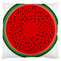 Watermelon Large Flano Cushion Case (one Side) by Valentinaart