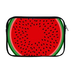 Watermelon Apple Macbook Pro 17  Zipper Case by Valentinaart