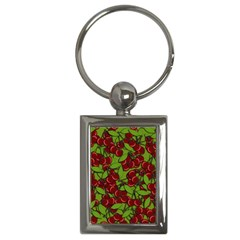 Cherry Jammy Pattern Key Chains (rectangle)  by Valentinaart