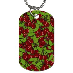 Cherry Jammy Pattern Dog Tag (one Side)
