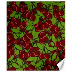 Cherry Jammy Pattern Canvas 20  X 24   by Valentinaart
