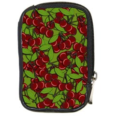 Cherry Jammy Pattern Compact Camera Cases by Valentinaart