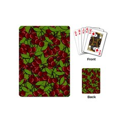 Cherry Jammy Pattern Playing Cards (mini)