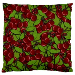 Cherry Jammy Pattern Large Cushion Case (one Side) by Valentinaart